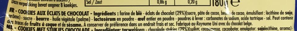 Cookies éclats de chocolat - Ingredienti - fr