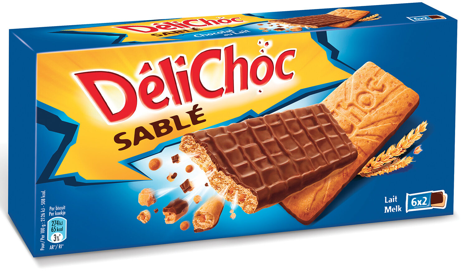 Delichoc sable chocolat lait - Prodotto - fr