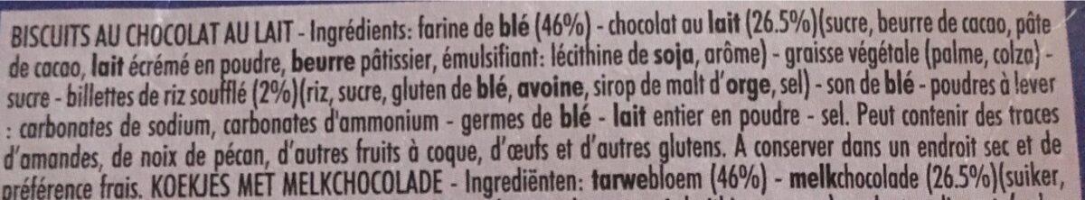 Delichoc sable chocolat lait - Ingrédients - fr