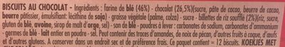 Delichoc sable chocolat noir - Ingrédients - fr