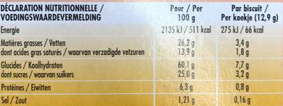Delichoc sable chocolat noir - Informations nutritionnelles - fr
