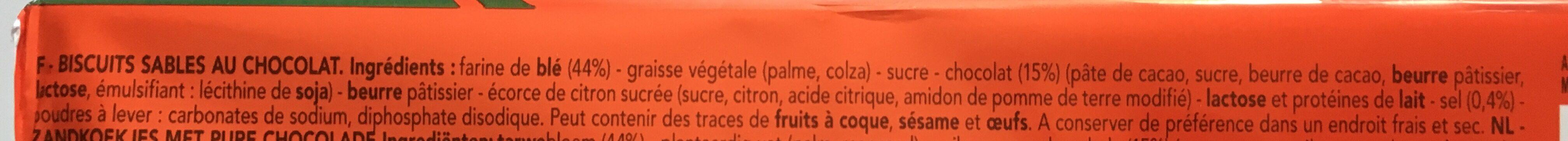 DELACRE le Spirits Noir 200 g - Ingrédients - fr