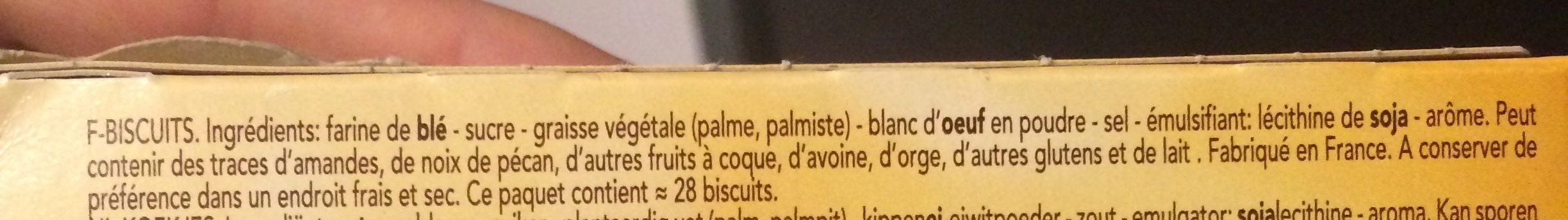 Delacre Cigarettes Russes - Ingredienti - fr