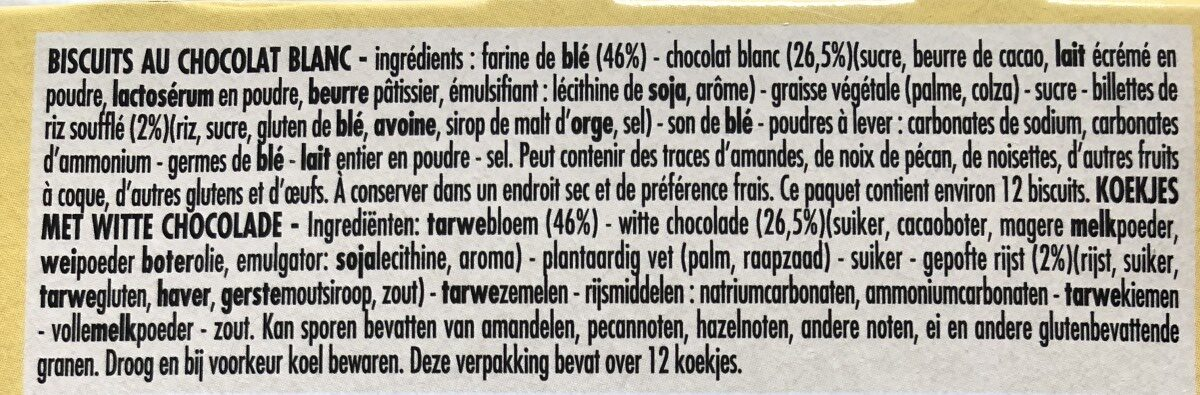 Delichoc sable chocolat blanc - Ingrédients - fr