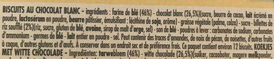 DéliChoc Sablé Chocolat Blanc - Ingrédients - fr