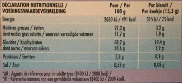 Delichoc choco'bar - Informations nutritionnelles - fr