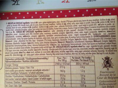 Delacre marquisettes biscuits chocolat noir - Ingrédients - fr