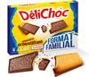Delichoc tablette chocolat lait lot 2x150g ( - Product