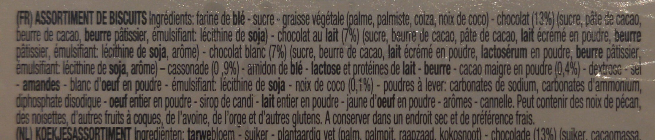 Delacre Tea Time - Ingrédients - fr