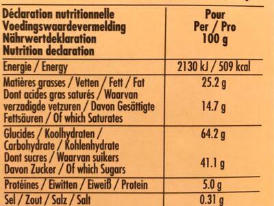 Delacre tea time assortiment biscuits - Informations nutritionnelles - fr