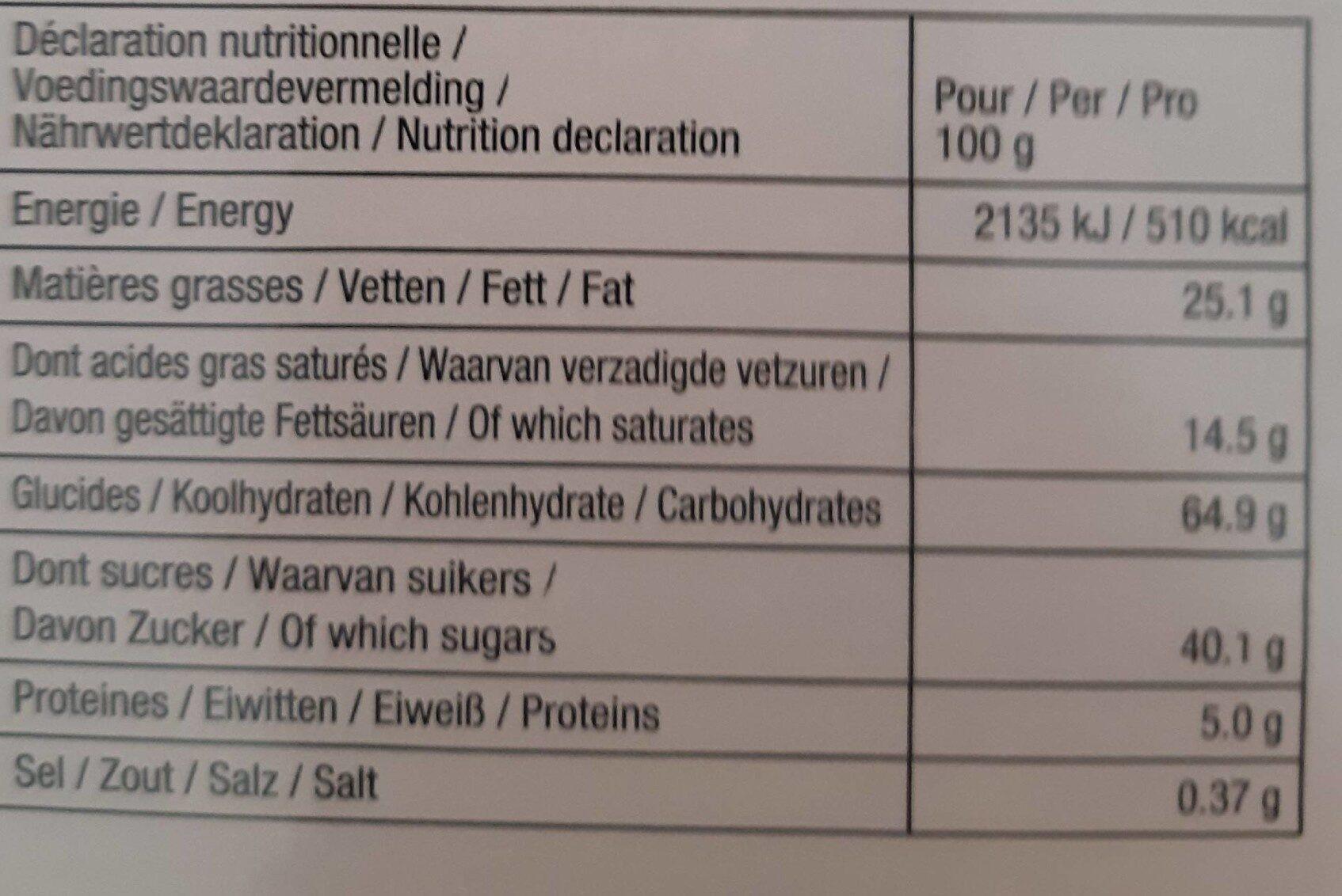 Delacre tea time - Informations nutritionnelles - fr