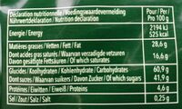 Delacre tentation - Informations nutritionnelles - fr