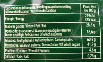 Delacre tentation - Nutrition facts