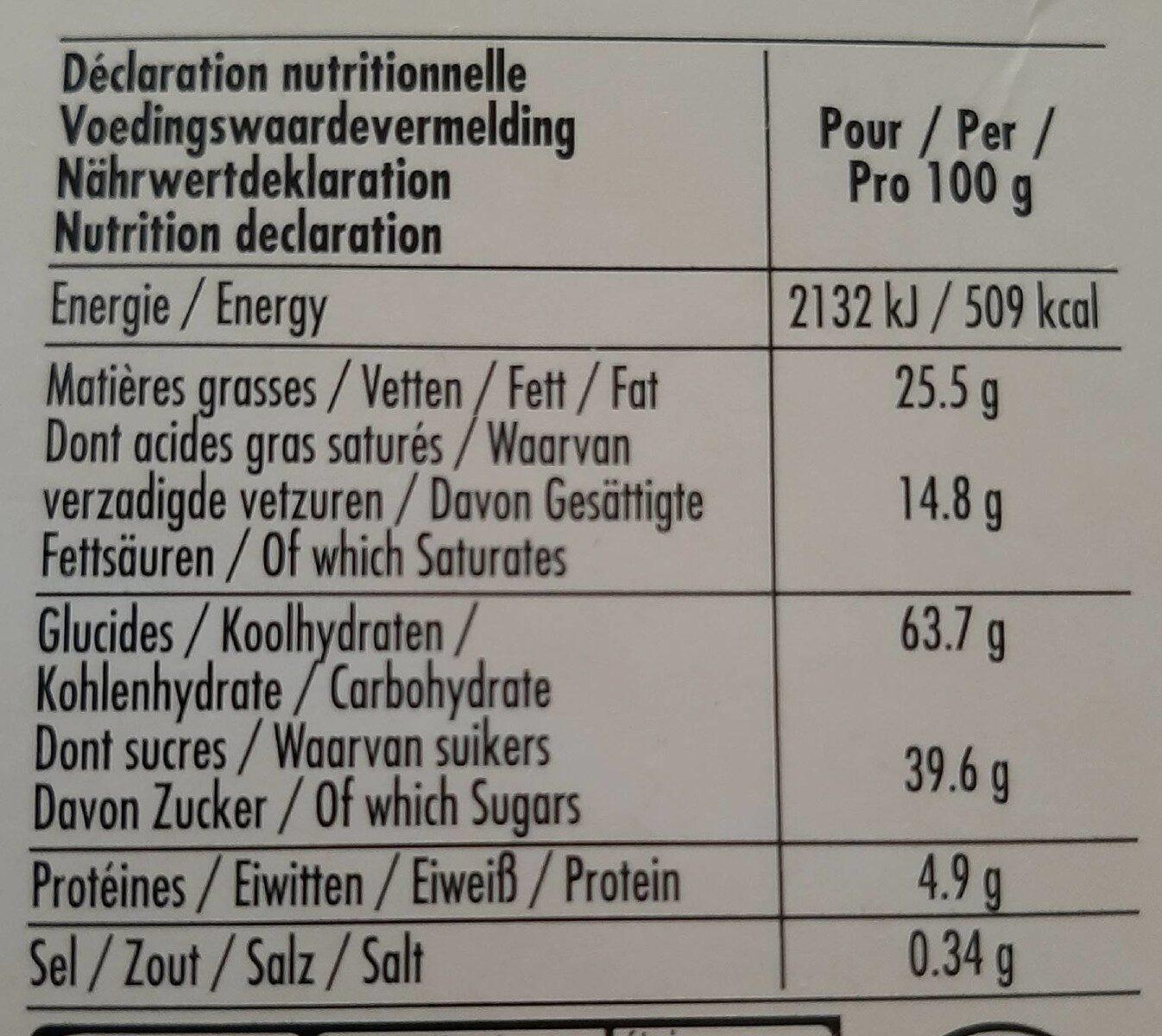 Delacre brugge 200gx2 lot - Nutrition facts - en