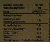 Delacre etoile constellation - Informations nutritionnelles - fr
