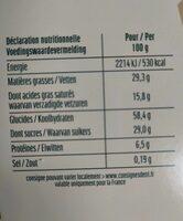 Delacre etoile calendrier - Informations nutritionnelles - fr