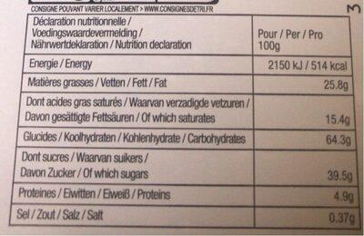 Delacre tea time assortiment biscuits 400g (1kg) boite metal adolie day bts - Informations nutritionnelles - fr