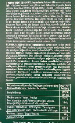 Delacre tea time assortiment biscuits 600g paques - Informations nutritionnelles - fr