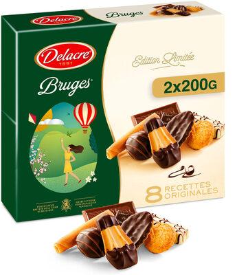 Delacre bruges assortiment biscuits lot 2x200g (400g) paques - Produit - en
