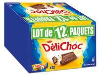 Delichoc tablette chocolat lait lot 12x150g ( - Produit - fr
