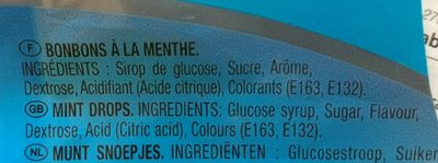 Lutti mint menthe fraîche Original - Ingredients - fr
