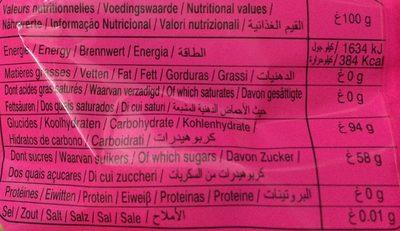 Arlequin original - Voedingswaarden