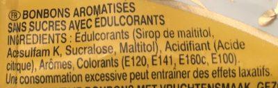 Arlequin Sans sucres - Ingrediënten
