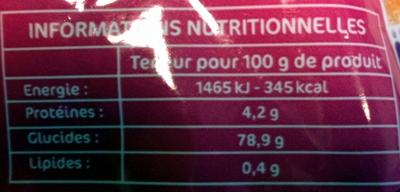 Bestfizz - Nutrition facts