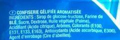Bonbons Lutti Scoubidou - Ingrediënten