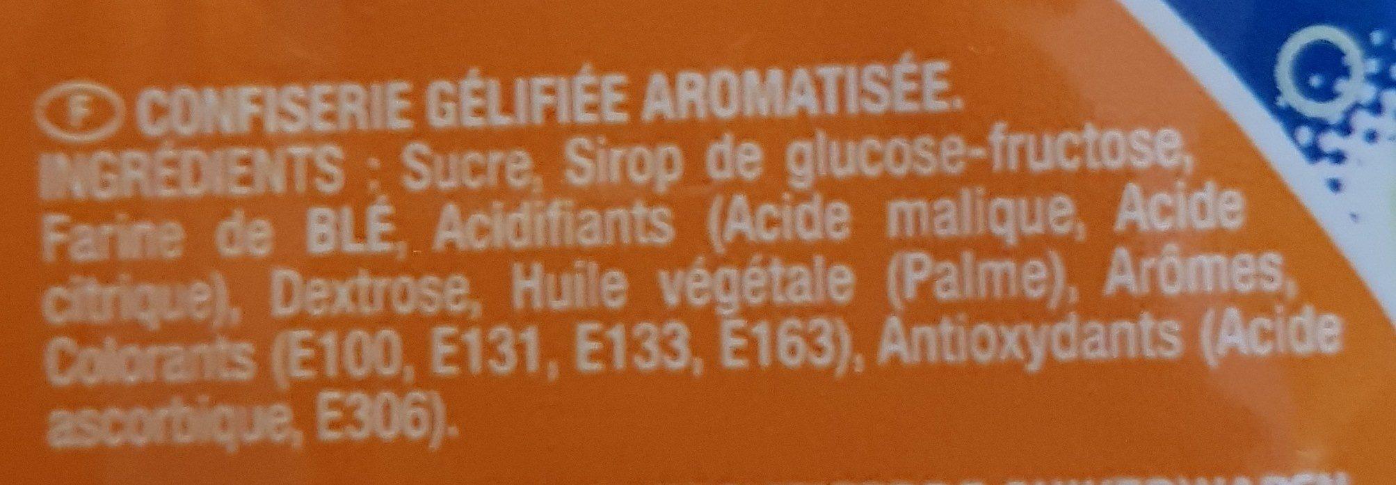 Scoubifizz - Ingredienti - fr