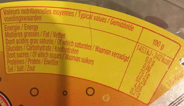 Mix Fizz - Informations nutritionnelles