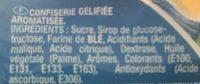 Flexi-Fizz Duo fruités piquants - Ingrédients - fr