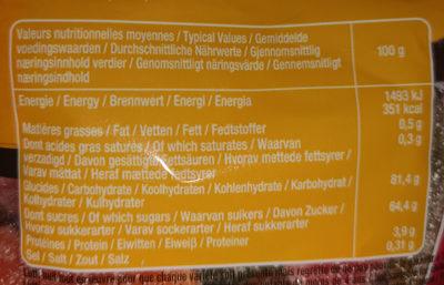 Bonbons Max 2 Fizz - Informations nutritionnelles - fr