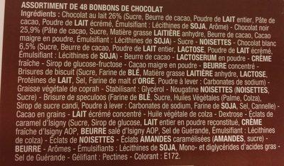 Splend'or lait Noir Blanc - Ingredients