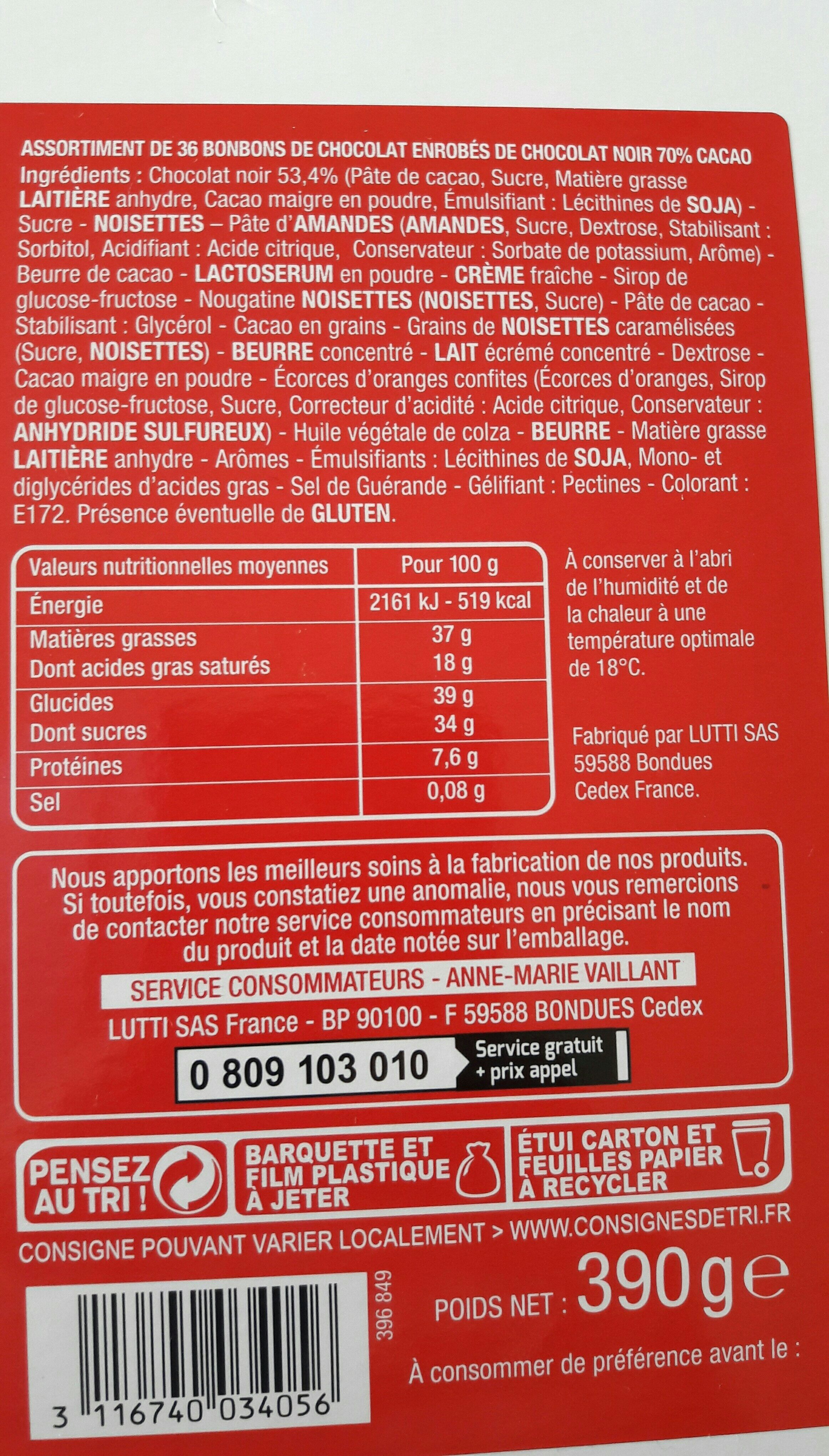 Lutti - Ingredients