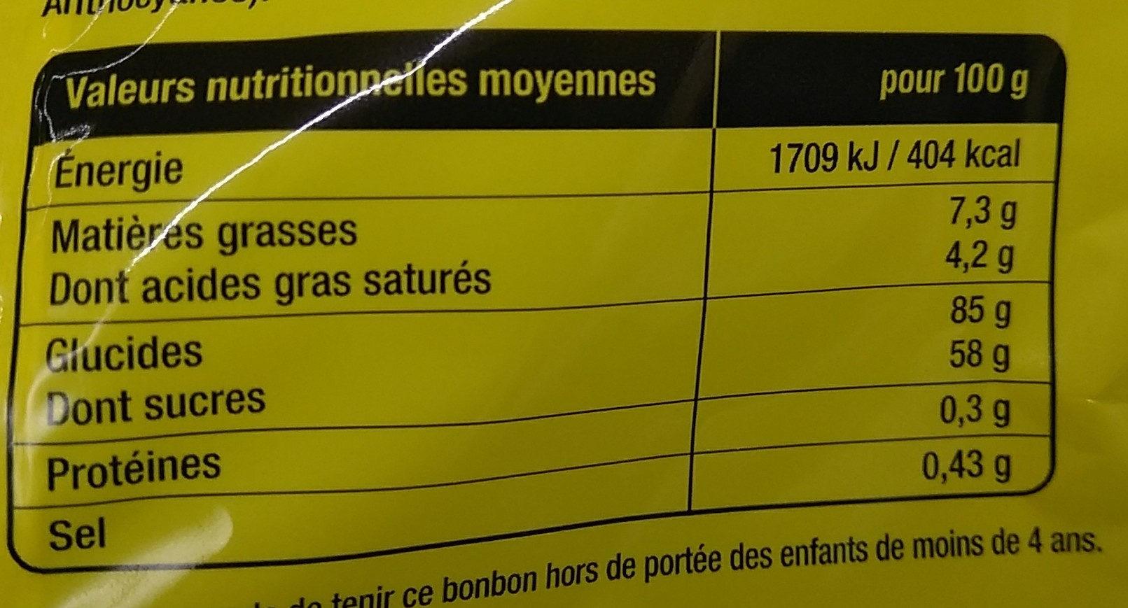 Smoofizz crazye - Informations nutritionnelles - fr