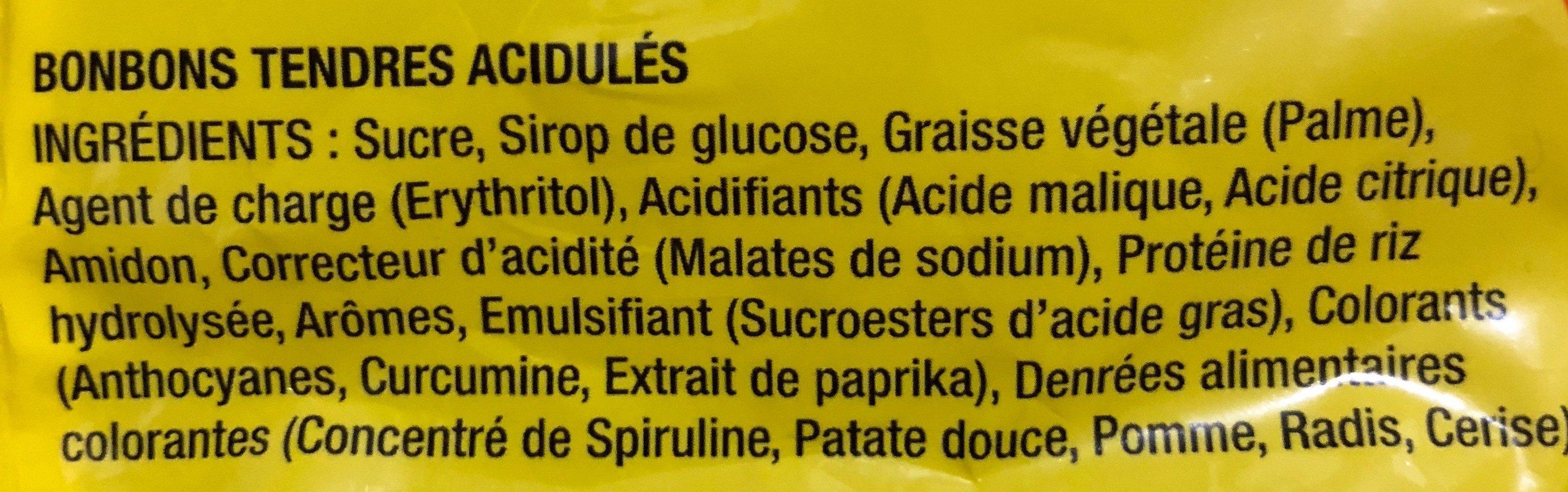 Smoofizz Fruits - Ingrediënten
