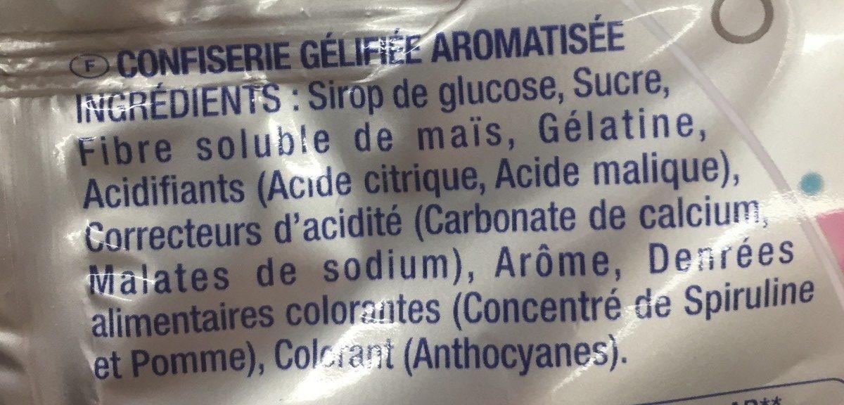 Mini Bubblizz (-40% sucres) - Ingrediënten - fr