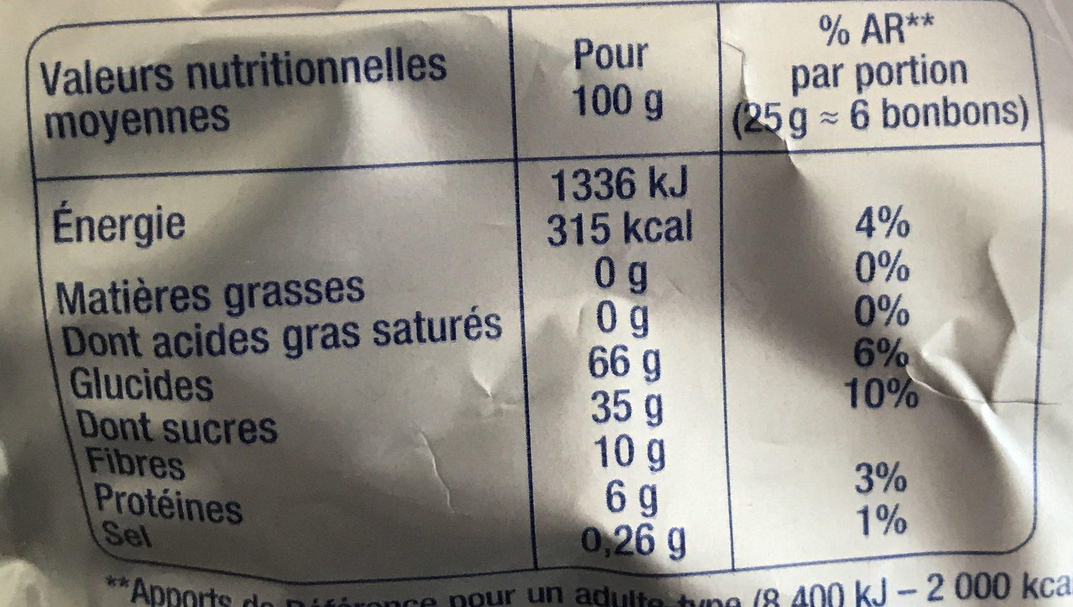 Mini Bubblizz (-40% sucres) - Voedingswaarden - fr