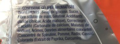 Skate Fizz (-40 % de sucres) - Ingredients