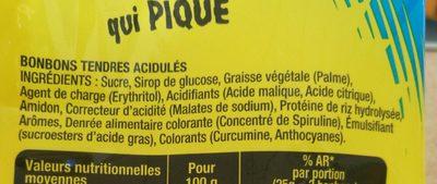Smoofizz - Ingredients - fr