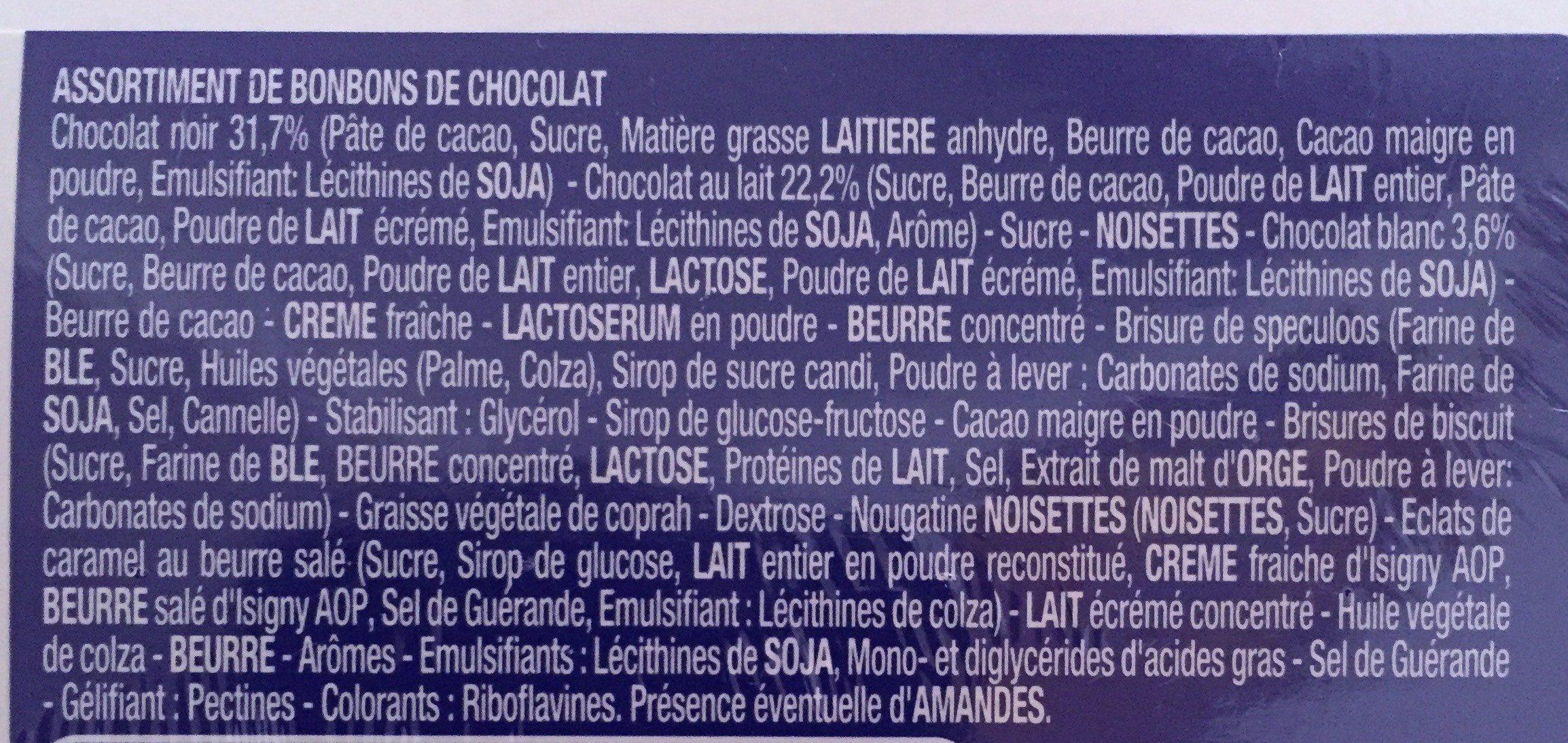 Splend'Or Lait Noir Blanc - Ingrédients