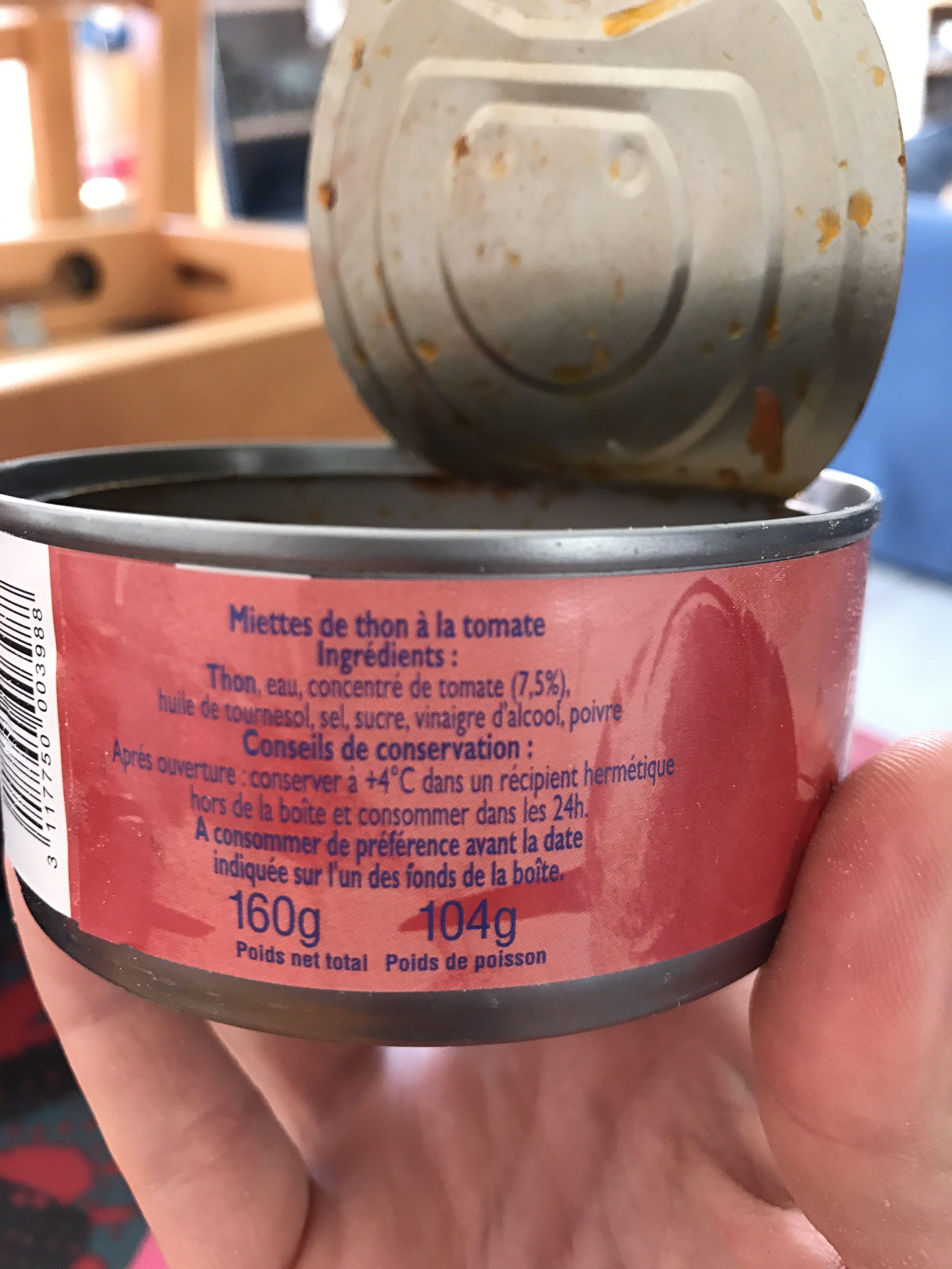 Miettes De Thon - Ingrediënten