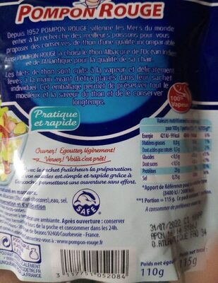 Thon - Valori nutrizionali - fr