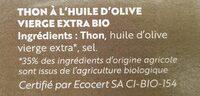 Thon à l'huile d'olive extra bio - Produit - fr