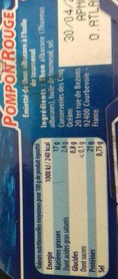 Émietté de thon albacore - Nutrition facts - fr