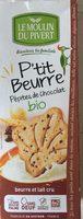 P'tit Beurre aux pépites de chocolat bio - Produit - fr