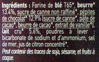 P'tit Beurre aux pépites de chocolat bio - Ingrédients - fr