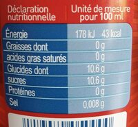 SOWEST Le cola des Pyrénées - Informations nutritionnelles - fr