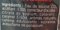 Sowest Cola Zero - Ingrédients - fr